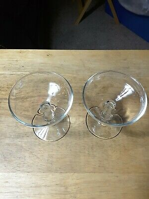 Champagne For Two Two Beautiful vintage short stem Champagne Glasses