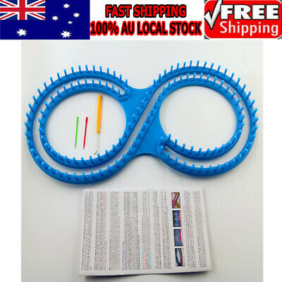 Round Looms Knitting Knitter Ring Set Craft Tool For Sock Scarf Hat Sweater AU