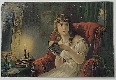 Old Victorian Trade Card The Ghost Story Dr. Jayne's Tonic Vermifuge, Milwaukee