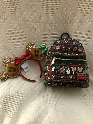 NEW - DISNEY - Disney Parks Food Icons (Christmas) Mini Backpack by Loungefly