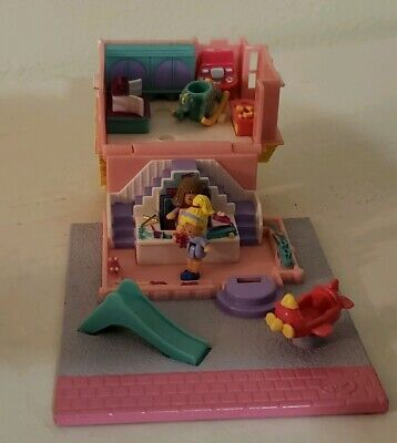 Vintage Polly Pocket  House 1993 dollhouse bluebird retired COMPLETE TOY STORE
