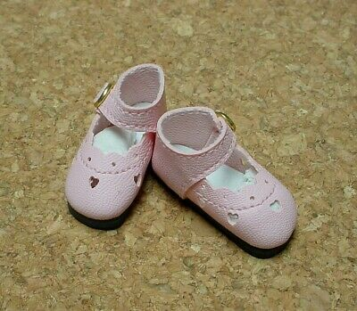 "38mm LIGHT PINK Bow Trim Slip ons  for 11/"" Kaye Wiggs Doll Shoes"