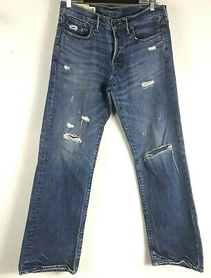 Abercrombie & Fitch Jeans Kilburn Mens Tag 31x32 Low Rise Boot Destroyed