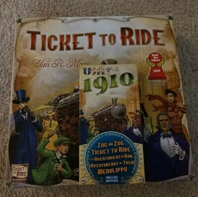 Ticket To Ride Board Game w/ 1910 expansion Pack Great Condition Days Of Wonder