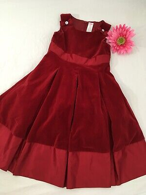 Gymboree girls Dress Velvet Satin Pleats Bows Christmas Party Holiday Pageant 9