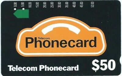 2 Hole $50 Generic Prefix 130. Superior Condition Telstra Phonecard