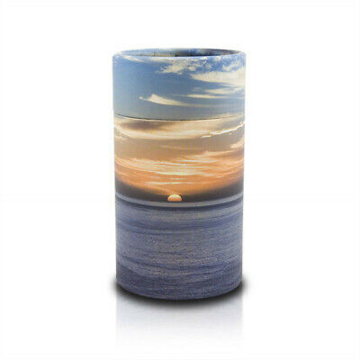Ocean Sunset Paper Urns for Scattering ashes - Extra Small  Blue Orange