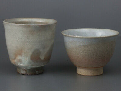 A638/ good Taste/ 2 Tea Cups/ YUNOMI/ Japanese Pottery/ Afternoon Tea