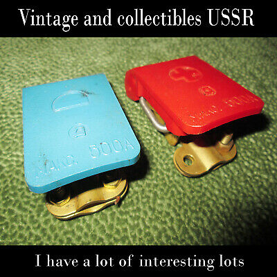 USSR, quick release mount high voltage wires car battery (set of 2 pieces +,-)