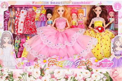 Set 32 Clothes And Accessories For Barbie Doll Party Dress Outfit Glasses Shoes