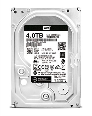 Wd Black Wd4005Fzbx - Hard Drive - 4 Tb - Internal - 3.5` - Sata 6G... NEW