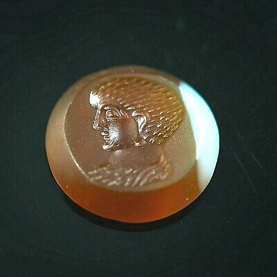 Antique Carnelian Stamp Roman Knight Intaglio Signet Seal Bead For Making Ring
