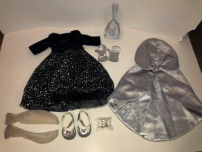 American Girl Doll Merry Moonlight Black Silver Gown Dress Rare Clothes Outfit