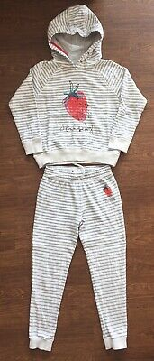 Next Stripe Strawberry Overhead Hoody & Joggers Set, Size 8 Years