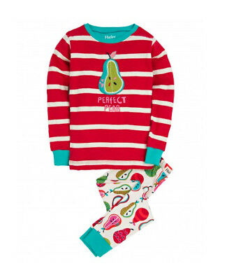 "Bnip Hatley Girls Red ""Perfect Pear"" Pyjamas Size 8 Years"
