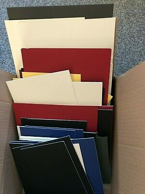 Box Of 62 Mountboard Card Off Cuts  Offcuts Scraps Assorted Colours & Sizes