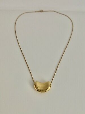 Tiffany & Co. Elsa Peretti Bean Necklace 18ct Yellow Gold
