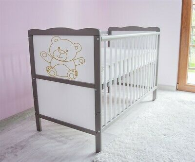 Wooden Baby Cot Bed ✔ Converts to Junior Bed ✔