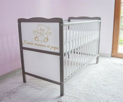 Wooden Baby Cot Bed ✔ Converts to Junior Bed ✔  120x60