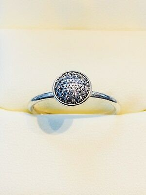 Pandora Sterling Silver And Diamond Ring, SZ 8.5, Free Shipping