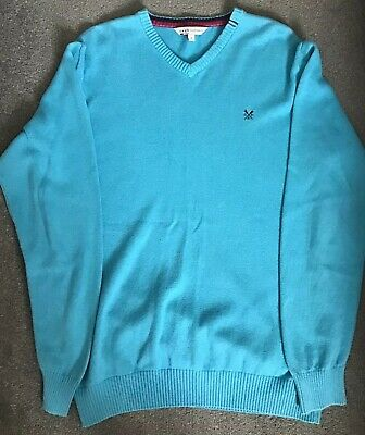 Men's Crew Clothing V Neck Jumper - Size Large