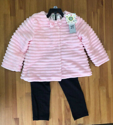 Girls Little Me Gorgeous 3 Piece Coat Leggings And Top Set Age 3 Bnwt
