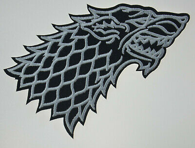 Game Of Thrones House of Stark Wolf Sigil Dire Winter Iron or Sew On Patch 4.5""