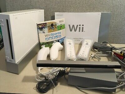 Nintendo Wii Sports Resort White Console - With Extra Remote And Original Box
