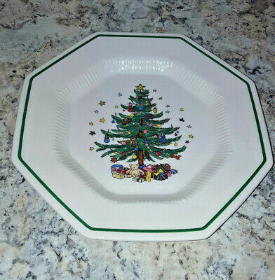 "5 NIKKO CHRISTMASTIME CLASSIC COLLECTION Dinner Plates 11"" - Japan"