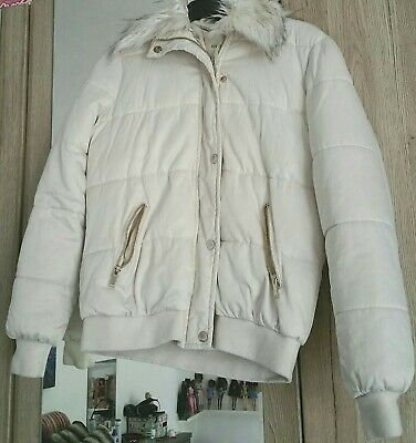 Womens girls river island cream coat jacket was about £55 summer or winter coat.