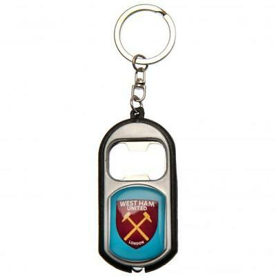 West Ham UTD FC Official Torch Bottle Opener Keyring Brand New