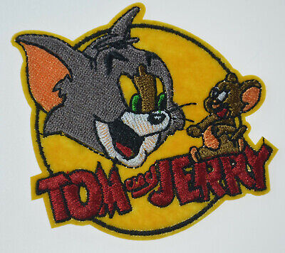 """Tom and Jerry Cartoon Cat Mouse Iron Sew On Embroidered Patch Badge Applique 3"""""""