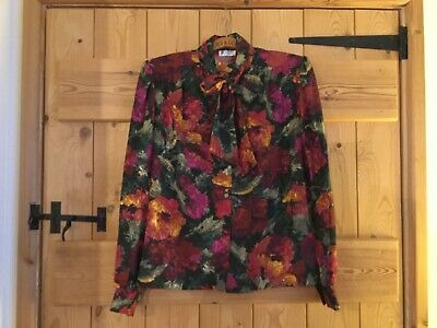 Used Options At Austin Reed Floral Blouse With Removable Bow Size 10 12 3 50 Picclick Uk