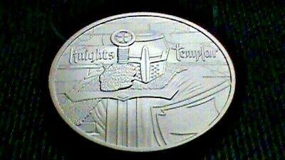 Knights Templar~Vinces~Signo~Commemorative Challenge Coin~Silver Dollar Size