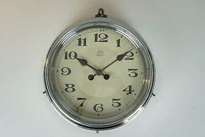 BULLE CHROME Wall Clock 1920s COLLECTORS ITEM ELECTRIC Antique French France