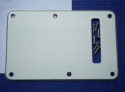 Fender Player Stratocaster Parchment TREMOLO BACK COVER Scratch Plate 3 Ply