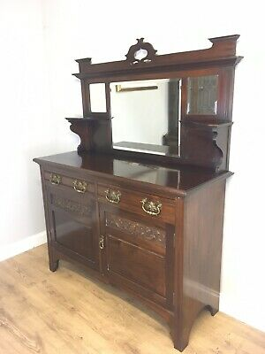 Lovely Victorian Mahogany Chiffonier Sideboard Dresser Cupboard Delivery Poss