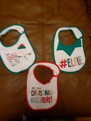 Three Christmas Bibs Brand new