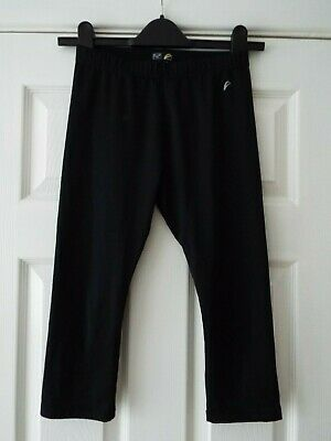 Girl's F&F Sports/Gym Activewear Cropped Bottoms in Black  Age 11-12 Years  VGC