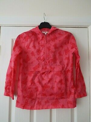 Girl's M&S Pac-A-Mac Style Cagoule with Hood in Pink & Red  Age 9-10 Years VGC