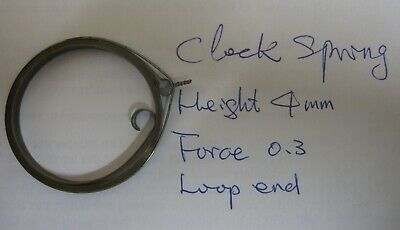 Clock main spring, height 4, Force 0.3, Loop end
