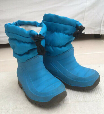 Boys/girls Kids Snow Boots Size Infant 6/7 Blue