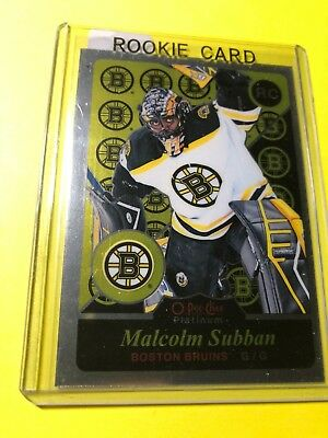 2015-16 O-Pee-Chee Platinum Malcolm Subban RC #R71 Boston Bruins