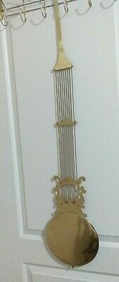 "Vintage Clock Pendulum Fancy Goldtone Grandfather Clock 42 1/2"" Long 8 3/4"" Bob"