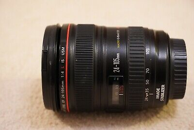 Canon EF 24-105mm F/4 L IS USM Lens Excellent Condition With Lens Hood