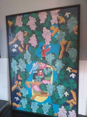 large Chinese painting signed with seals