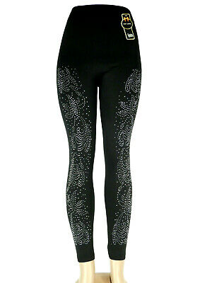 Damen Hochbund  Bauchweg Leggings Miederhose Leggins Jeans Optik Schw !WINTER!