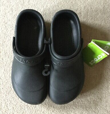 Brand new with tags mens black Crocs size 10