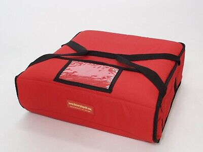 """Pizza Delivery Bag Thick Insulated(Holds upto Two 16"""" or Two 18"""" Pizzas) Red."""