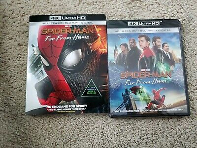 Spider-Man: Far From Home (4K HD + Blu-ray+Digital) New /SEALED +  Slip  Cover!